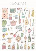 Doodle set - kitchen tools