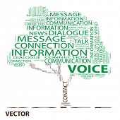 Vector eps concept or conceptual voice green tree word cloud on white background wordcloud