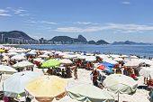 RIO DE JANEIRO - CIRCA JAN 2014:People on the Beach in Rio de Janeiro: January 2014