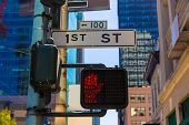 San Francisco downtown redlight on 1st street in California USA
