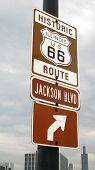 US 66 Route Street Sign (Chicago)