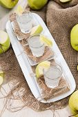 Apple Liqueur Shots