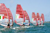 RS:X Boards Line Up for the Start of ISAF Medal Races in Miami