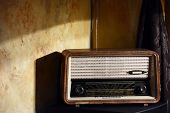 foto of transistor  - Old vintage radio - JPG
