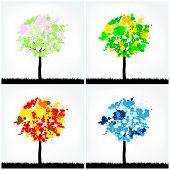 Abstract Season Trees