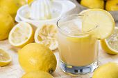 Glass With Lemon Juice
