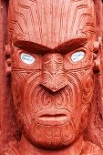 stock photo of maori  - Beautiful maori carving - JPG