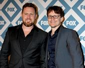 LOS ANGELES - Jan 13:  AJ Buckley, Damon Herriman at the  FOX TCA Winter 2014 Party at The Langham Huntington Hotel onJanuary 13, 2014 in Pasadena, CA