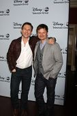 LOS ANGELES - JAN 17:  Christian Slater, Steve Zahn at the Disney-ABC Television Group 2014 Winter P