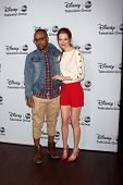 LOS ANGELES - JAN 17:  Columbus Short, Darby Stanchfield at the Disney-ABC Television Group 2014 Win