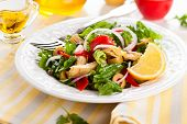 stock photo of artichoke hearts  - Marinated Artichoke Hearts Salad - JPG
