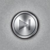 Vector round metal forward rewind button