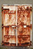 Old Rusted Doors Padlocked Close