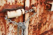 Rusted Doors Chained And Padlocked