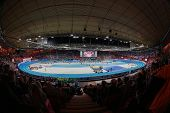 GOTHENBURG, SWEDEN - MARCH 3 An inside view of the Scandinavium stadium during the European Athletics Indoor Championship on March 3, 2013 in Gothenburg, Sweden.