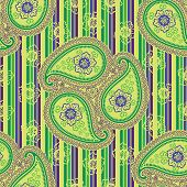 Paisley Fabric Seamless Vector Pattern Or Background