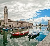 Lazise harbor on Lake Garda - Italy