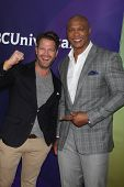 LOS ANGELES - JAN 19:  Nate Berkus, Eddie George at the NBC TCA Winter 2014 Press Tour at Langham Hu
