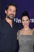 LOS ANGELES - JAN 19:  Billy Campbell, Kyra Zagorsky at the NBC TCA Winter 2014 Press Tour at Langha