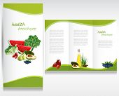 Health brochure layout.