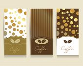 Coffe menu card flyer. Vector background illustration..