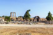 Temple Of Apollo In Ancient Corinth, Greece