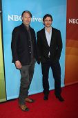 LOS ANGELES - JAN 19:  Mads Mikkelsen, Hugh Dancy at the NBC TCA Winter 2014 Press Tour at Langham H