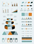 Infographics marketing set with charts, diagrams and speech bubbles.