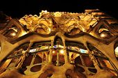 BARCELONA, SPAIN - SEPTEMBER 10: Casa Battlo at night on September 10, 2012 in Barcelona, Spain. The