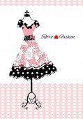 retro dress (full dress behind apron)