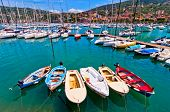 harbour and town of Lerici, Italy