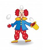 circus clown (vector illustration)