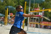 MOSCOW, RUSSIA - JULY 19, 2014: Eva D�?�¢??Elia of Italy in the match against Russia during ITF B