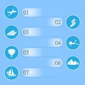 Travel Infographic On Blue Background