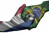 Handshake Between Netherlands And Brazil