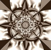Geometric  Fantasy  In  Sepia Tone. A-0095.