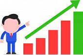 Businessman Pointing Chart Going Up