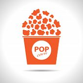 Vector popcorn icon. Eps10