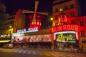 The Moulin Rouge Cabaret At Night