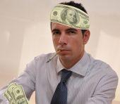 Latin Businessman with money