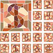 Mosaic Numeric Figures.