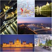 Budapest city Collage