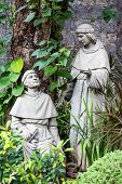 pic of cebu  - Statue in the courtyard of the old catholic church of the Basilica del Santo Nino - JPG