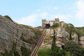 East Hill Cliff Funicular Railway In Hastings, England