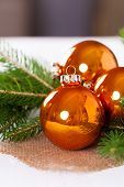 Shiny Bright Copper Colored Christmas Balls