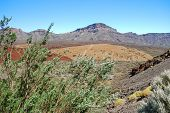 image of deserted island  - deserted landscape of teide national park on tenerife - JPG