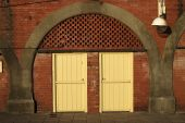 Doors To Seafront Storerooms, Brighton, East Sussex, England
