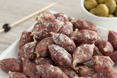 French dry mini saucissons