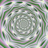 Pink And Green Vortex