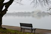 Jefferson Memorial in foggy Winter morning - Washington D.C. United States